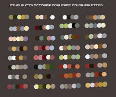 Free October 2018 Color Palettes by Ethelbutt