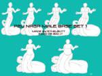 P2U Naga Male Base Set 1 (Body Shapes) by Ethelbutt