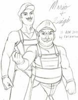 Mario and Luigi by Hentai-Ryukami