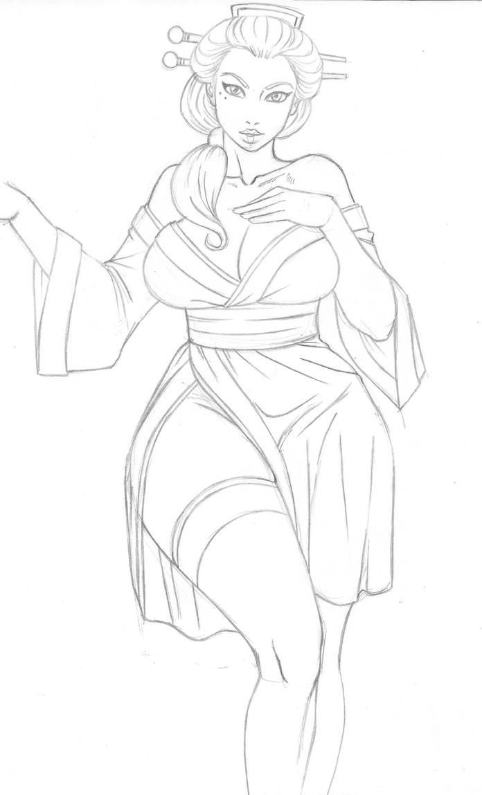 Cherri  Blossom sketch by Hentai-Ryukami