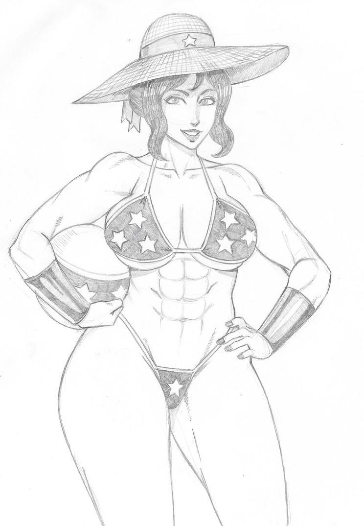 Wonder Woman Bikini by Hentai-Ryukami