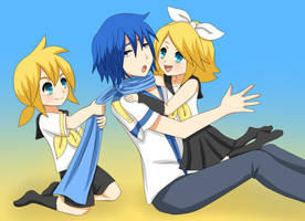 Rin, Len and Kaito : Baby-Sitting