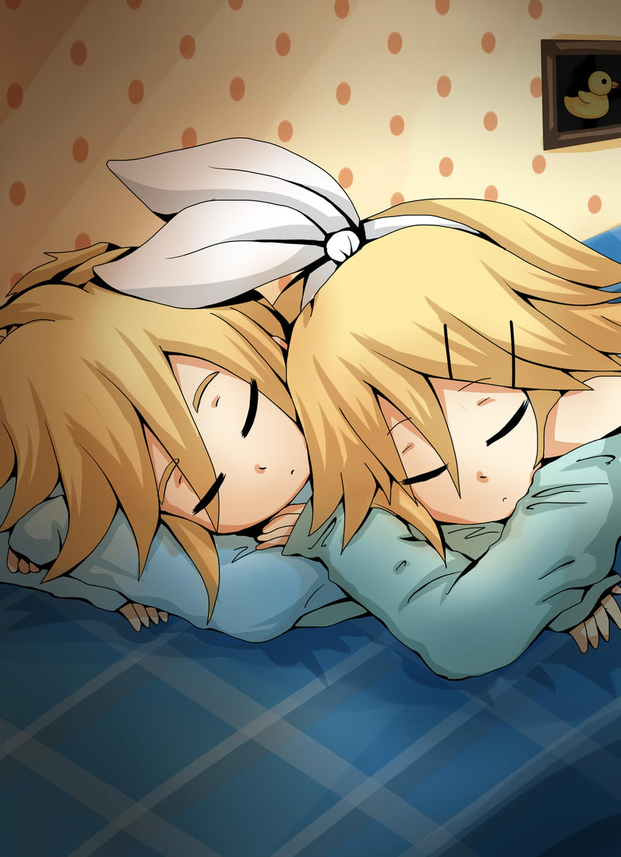 نتیجه تصویری برای Len and Rin sleep