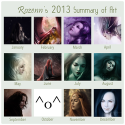 2013 Summary of Art by RozennIlliano