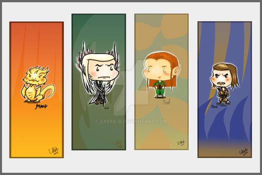 Hobbit Bookmarks Set 3