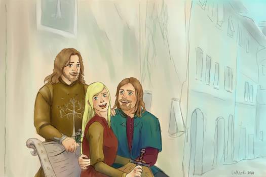 lotr Boromir Faramir and Frida