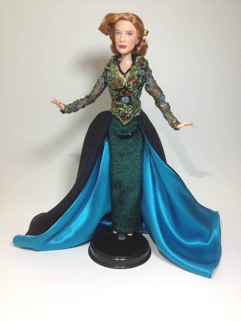 Cinderella 2015 Lady Tremaine Party Gown OOAK Doll by BLUE-s-DOLLS ...