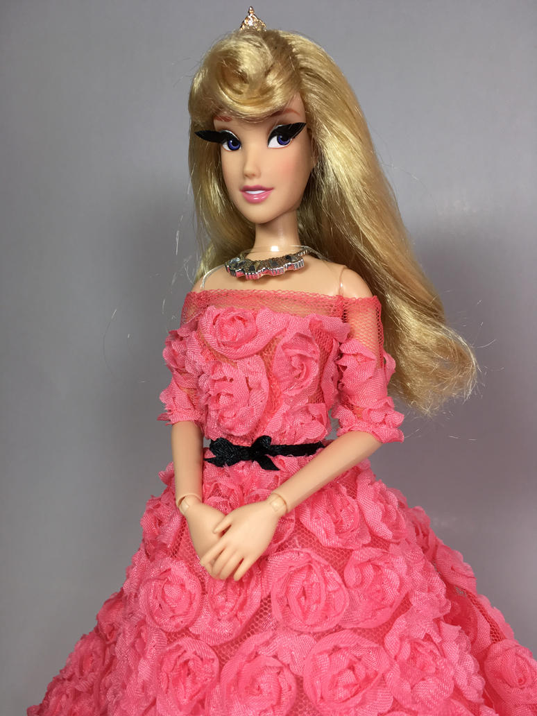 aurora princess design couture rose gown ooak doll by blue