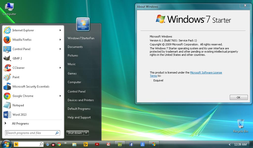 update windows 7 starter