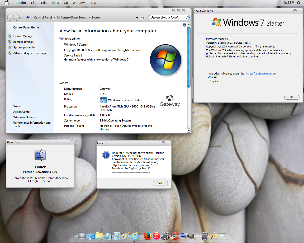 how to make windows 7 look like mac