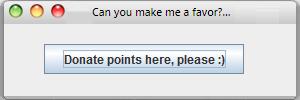 Free to use Mac Donate Points window by Windows7StarterFan