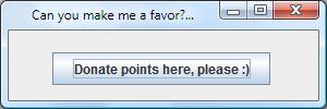 Free to use Windows Donate Points window by Windows7StarterFan