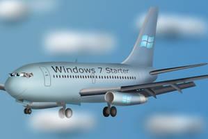 Windows 7 Starter Plane Flying by WindyThePlaneh