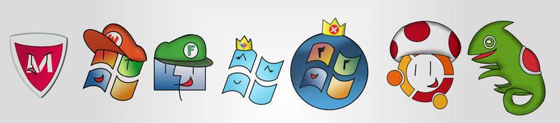 Super computer Logo Bros by WindyThePlaneh