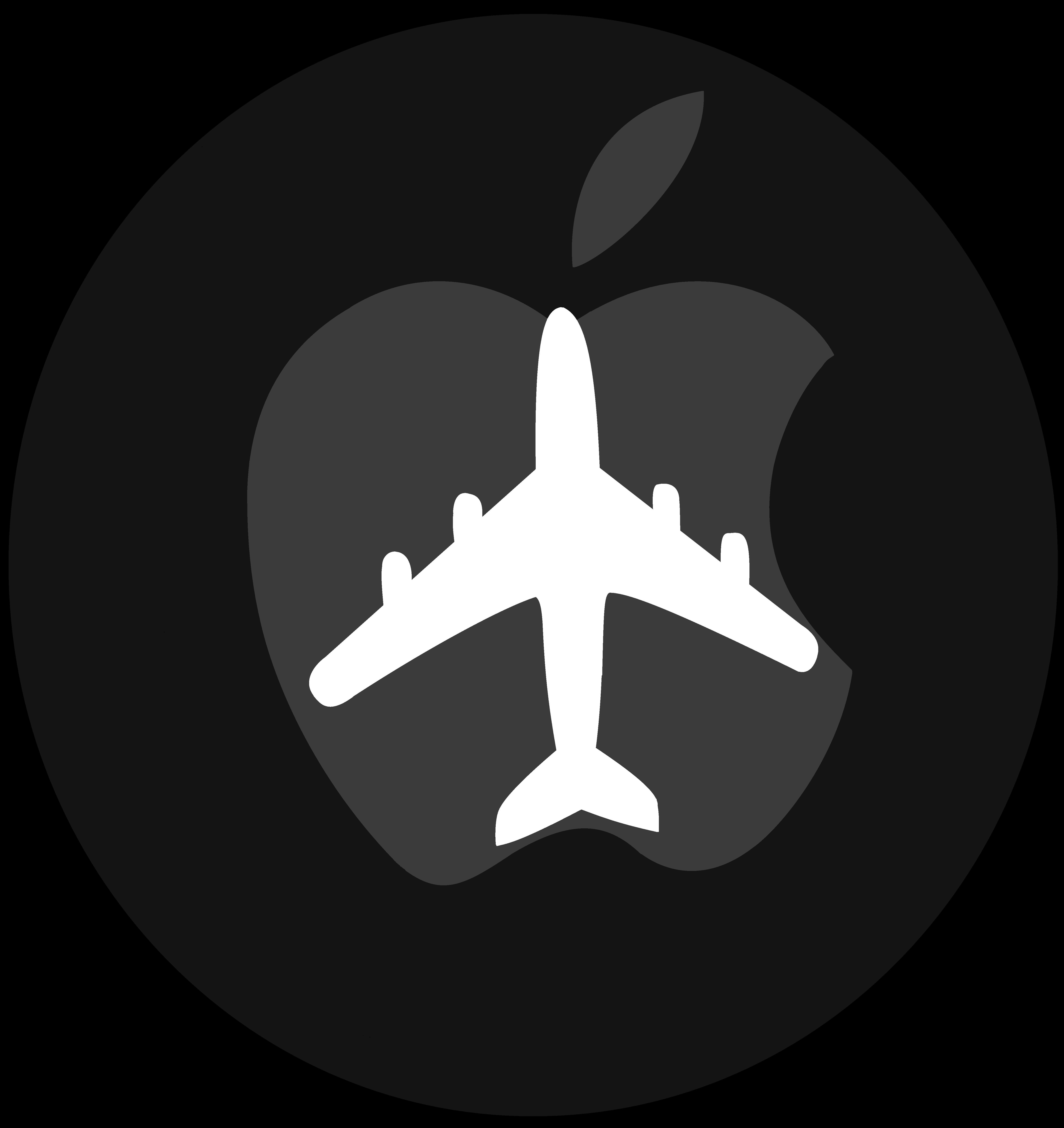apple logo vector. apple logo with plane vector(with speedpaint) by windytheplaneh vector