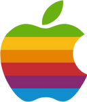 (late gift)Rainbow apple logo vector