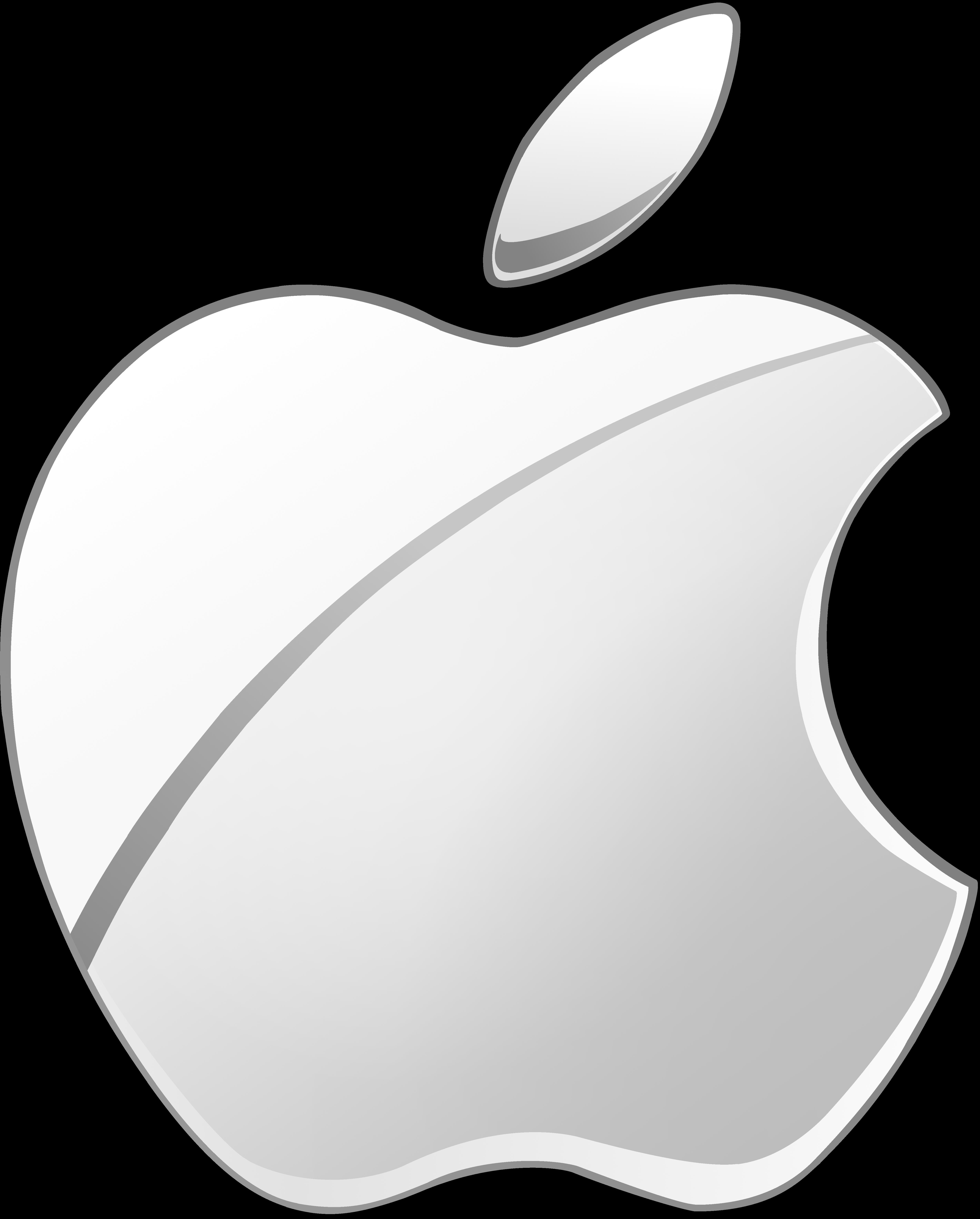 apple logo white vector. gift)silver apple logo vector(2) by windytheplaneh white vector