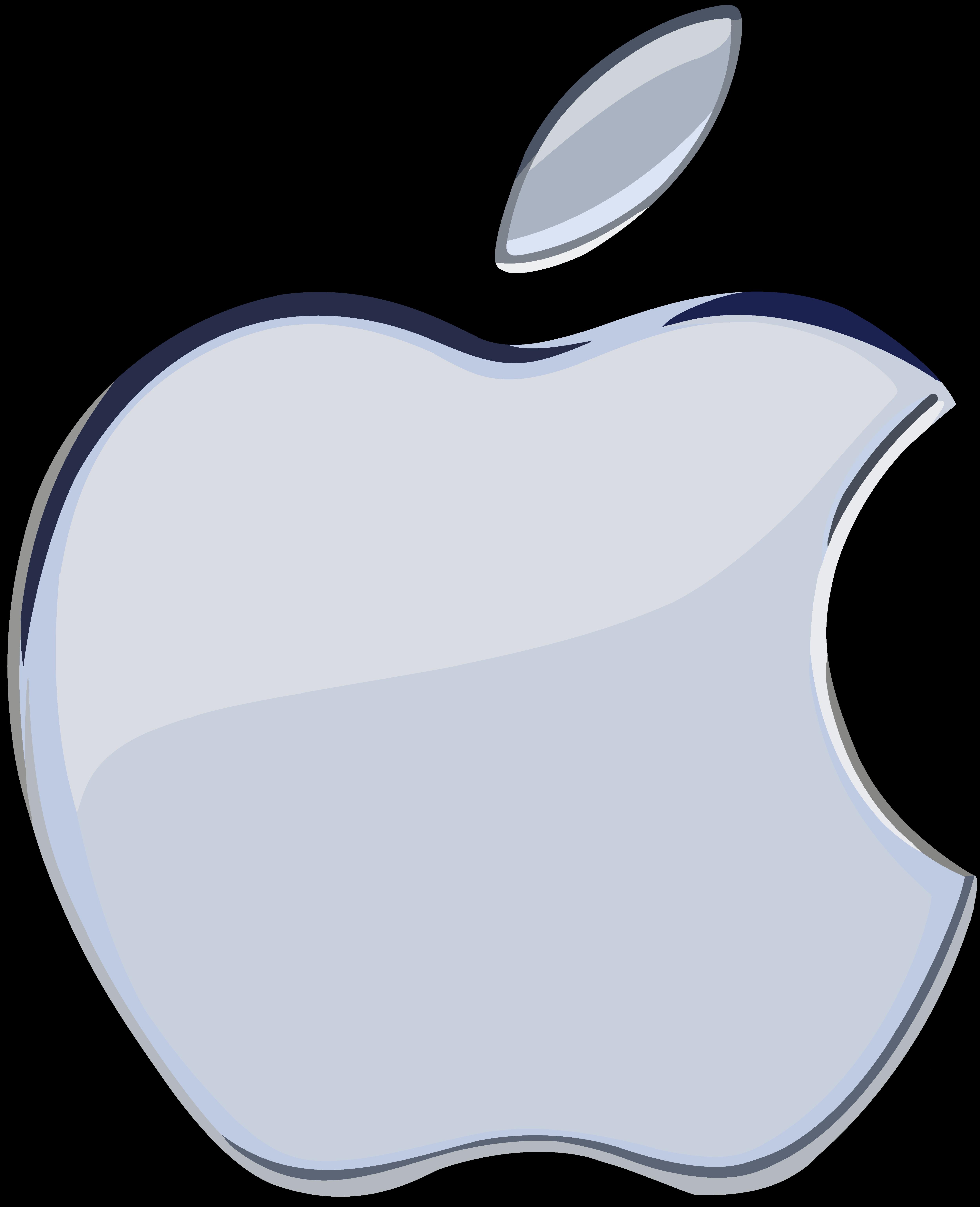apple logo white transparent. silver apple logo 1 flat by windytheplaneh white transparent
