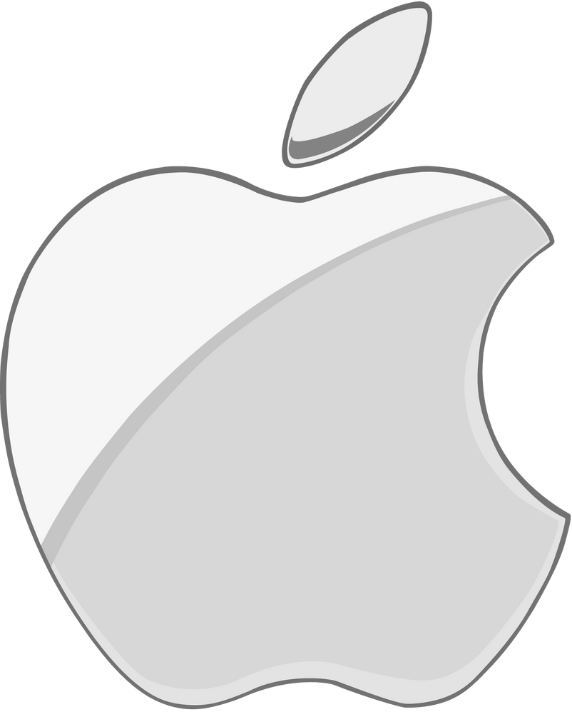 white apple logo png. silver apple logo 2 flat by windytheplaneh white png