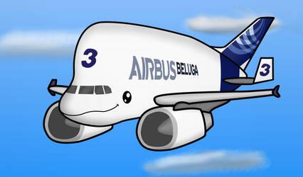 Chibi Beluga Whale Airbus by WindyThePlaneh