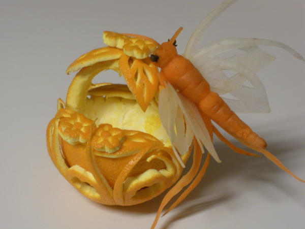 Butterfly Orange Basket