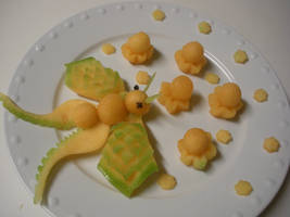 Melon Balls Plate by Chuncarv