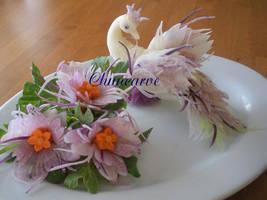 Purple Radish Peacock Bouquet by Chuncarv