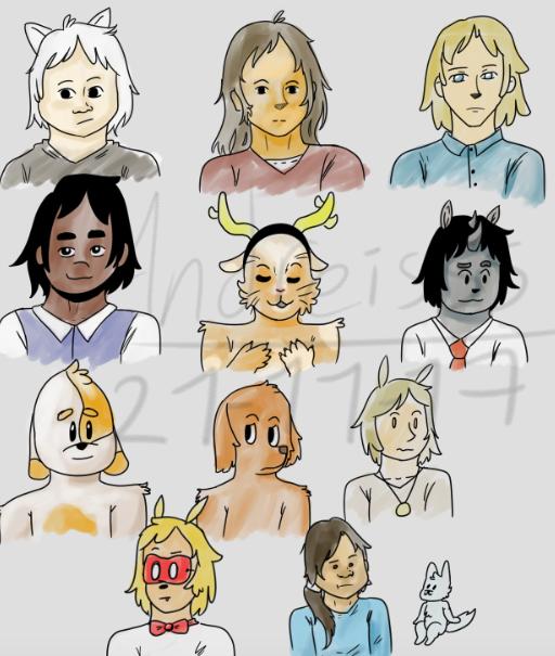 My oc's  (sketch) by andreisss231