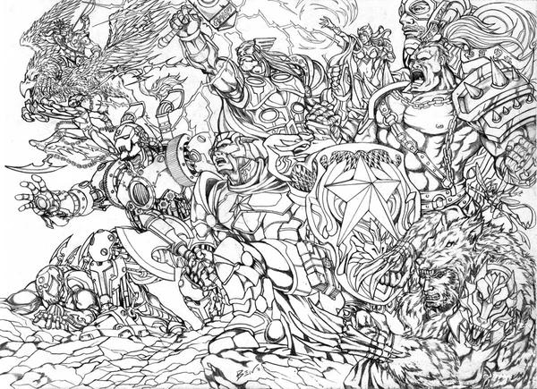 BnW AVENGERS INVADERS LOST in WORLD of WARCRAFT by benbal on