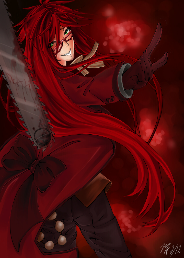 Request for AnimeNinja23: Grell Sutcliffe by XxPhantomRiderxX