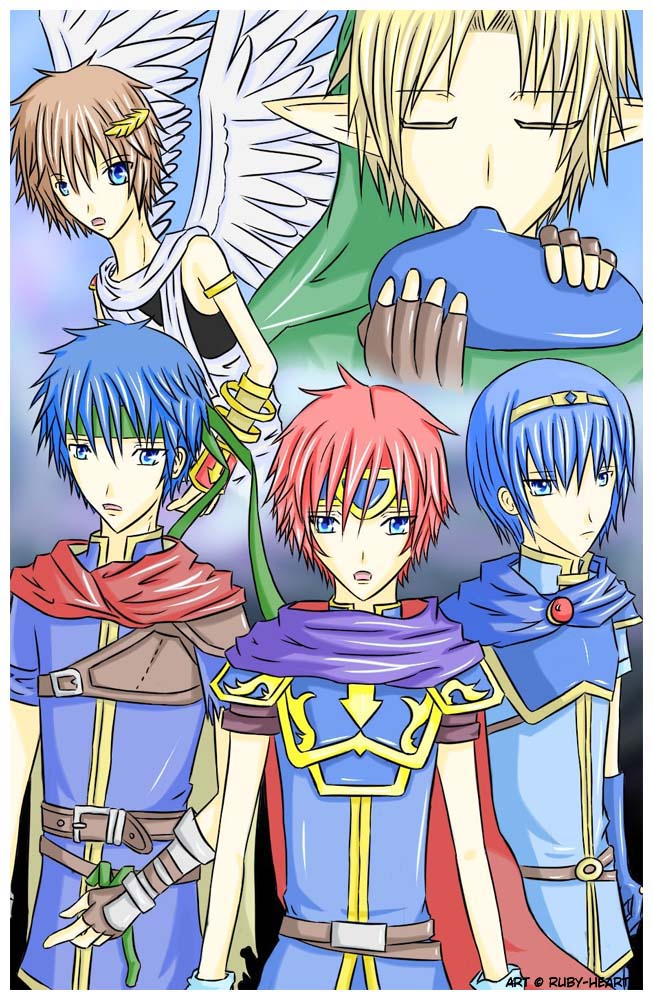 Five Warriors by Ruby-Heart