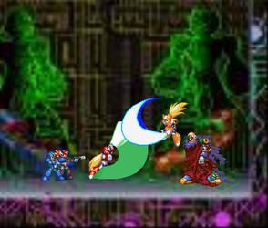 Maverick Hunter Heat Concept Battle by Bloodpantha