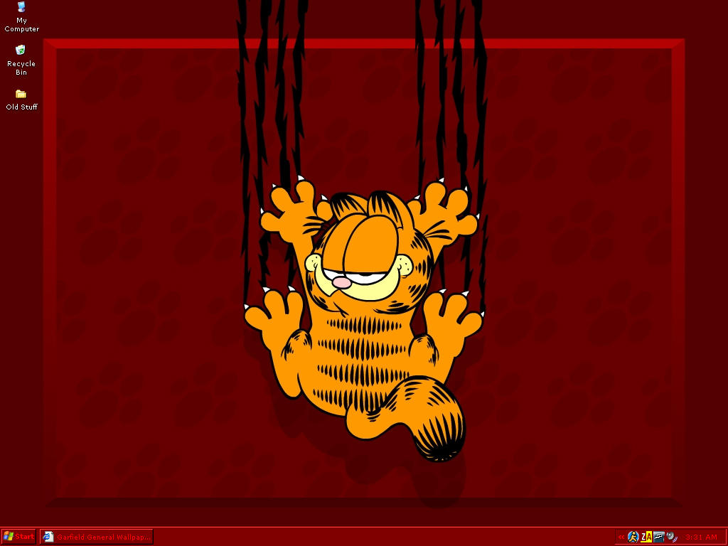 My Garfield-themed desktop by Xsanguine-roseX