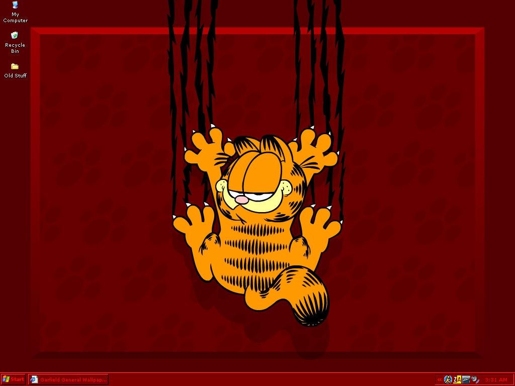 My Garfield-themed desktop by Xsanguine-roseX