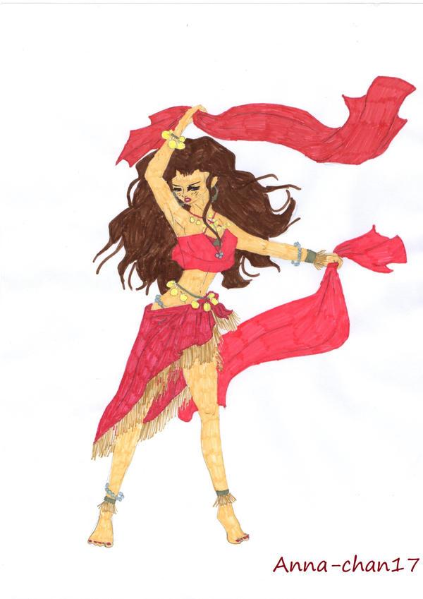 Gol d ann en danseuse orientale by anna chan17 on deviantart - Danseuse orientale dessin ...