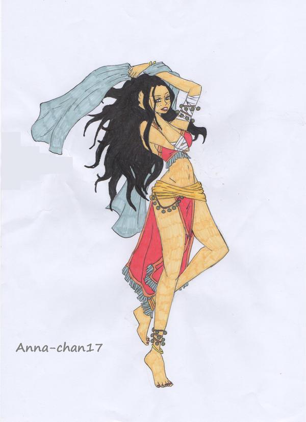 Gol d ann danseuse orientale nouvelle version by anna - Danseuse orientale dessin ...