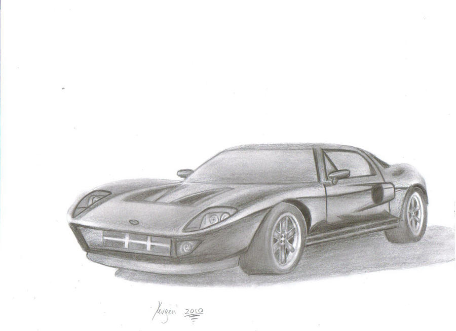 Ford Gt Drawing Byslipknot