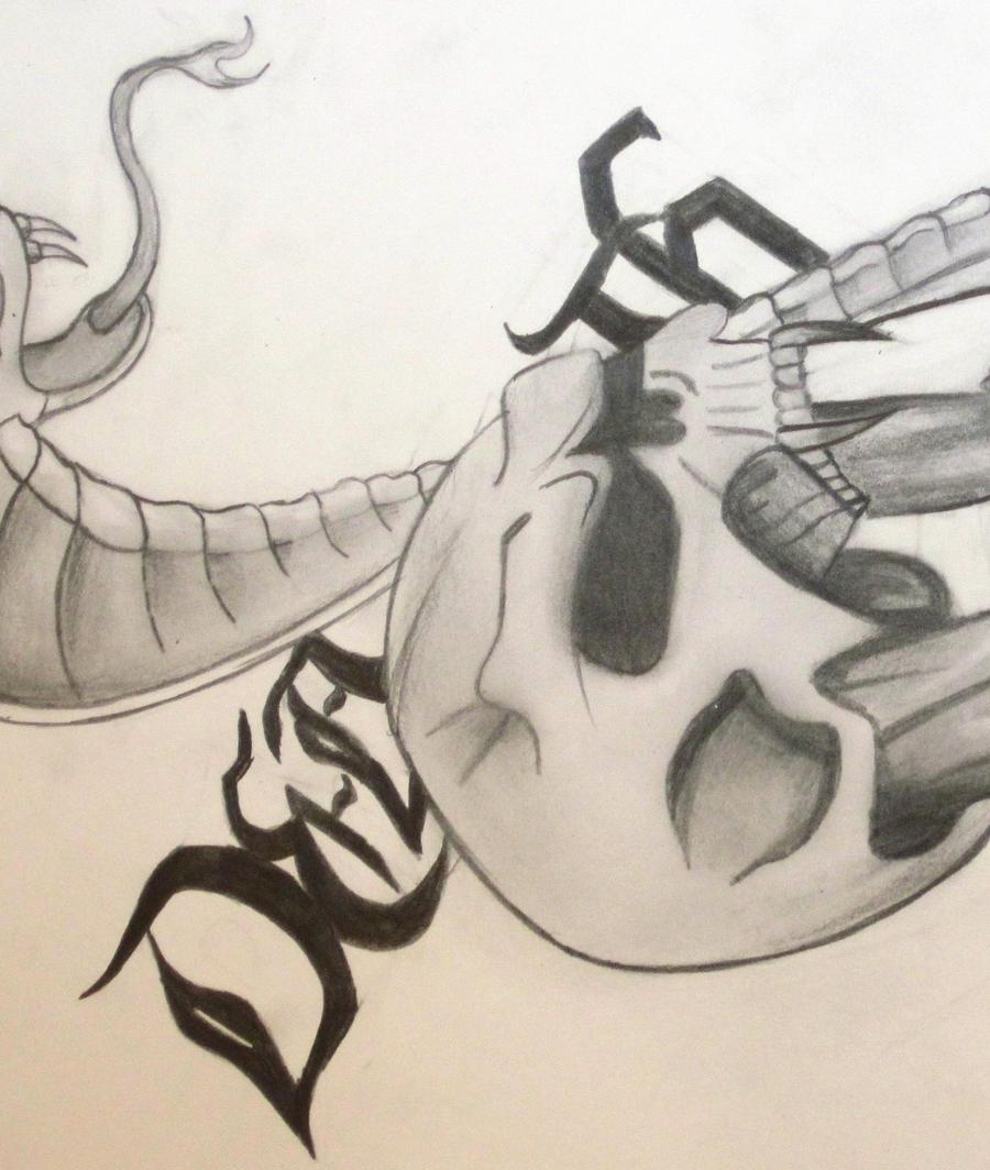 sketches of skulls and snakes wwwimgkidcom the image