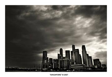 Singapore- CBD Skyline by selfrevolution