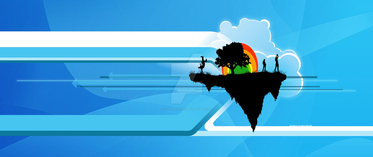 Island in Blue by evolutionxbox