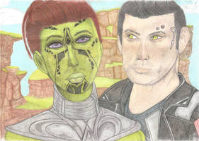 Khessya and Theron Shan on Makeb - SWTOR Drawing