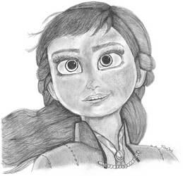 Drawing Practice - Anna Frozen 2 Head Shot