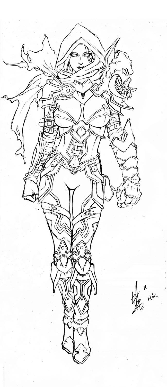 Diablo Demon Hunter Coloring Pages