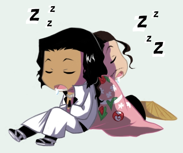 chibi lazy brothers by Koklico