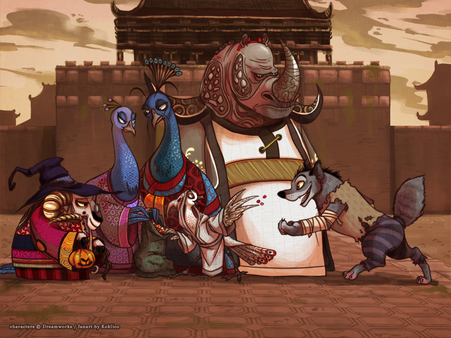 halloween in gongmen city by koklico - Kung Fu Panda Halloween