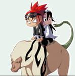 Riding on Zabimaru