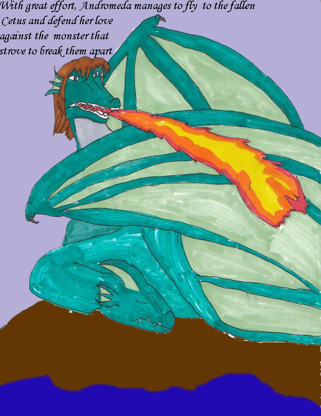 Cetus and Andromeda 13 by Kathalia