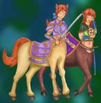 Kathalia and Sarah Centaurs