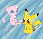 Mew and Pikachu :3