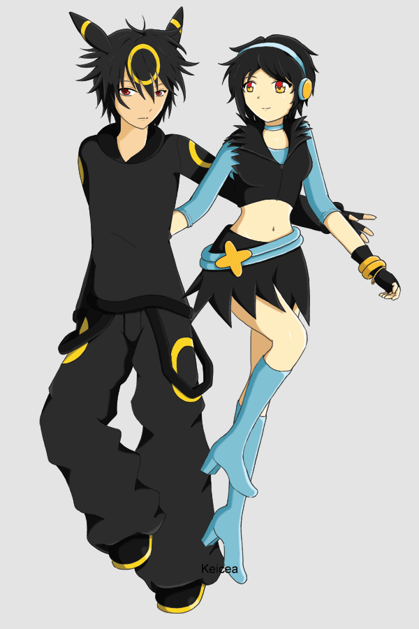 Umbreon and Luxray Gijinkas by keicea on DeviantArt